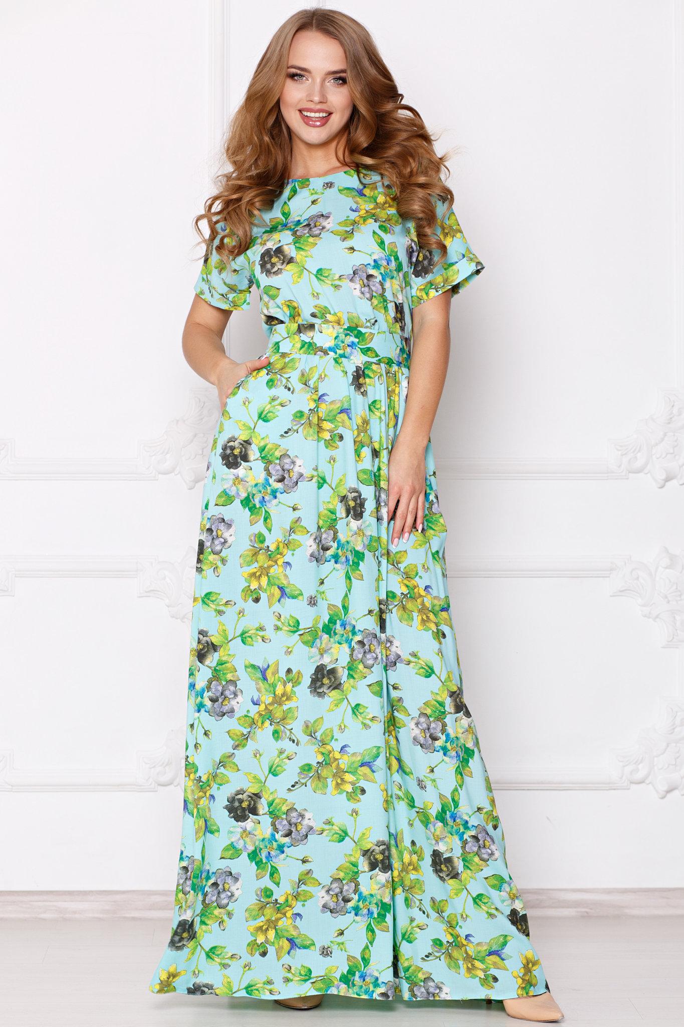 502bff4aae1366f Платье Камилла в пол бирюза ፨ официальный сайт Svetozara® ๛