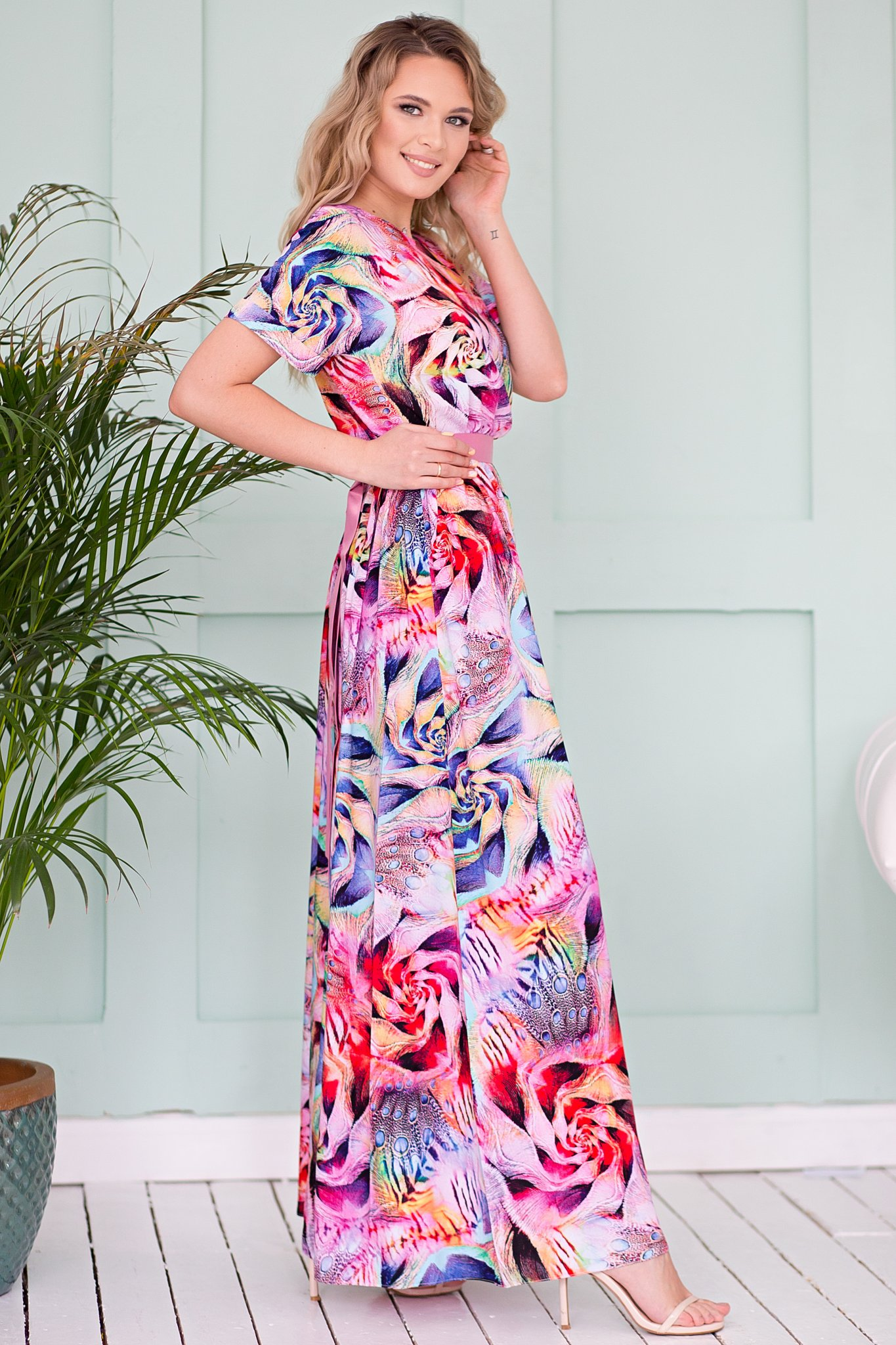 1a1cc5ad40ac973 Платье Камилла в пол неон ፨ официальный сайт Svetozara® ๛