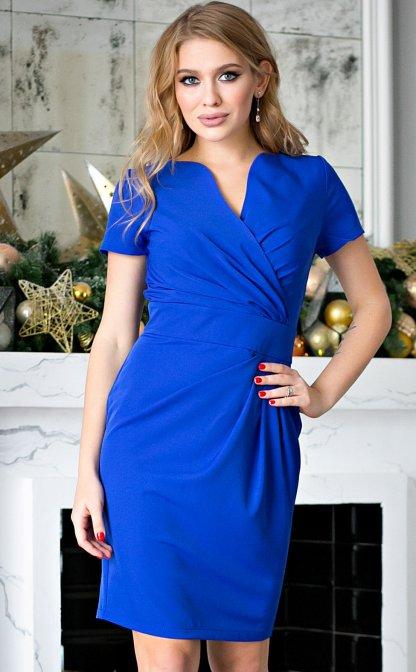 964ae669f Чтобы узнать оптовые цены Войдите или Зарегистрируйтесь. Платье Злата синяя  (П-26-2)
